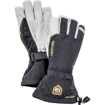 Hestra Ski Gloves Hestra Mens Army Leather GORE-Tex Ski Glove in Black