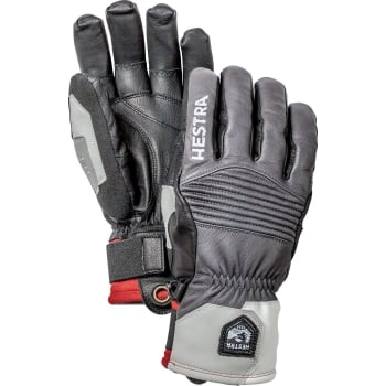 Hestra Ski Gloves Hestra Mens Jon Olsson Pro Model Ski Glove in Grey and Black