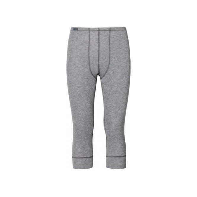 ODLO Warm 3/4 Pant Mens Baselayer In Grey Melange