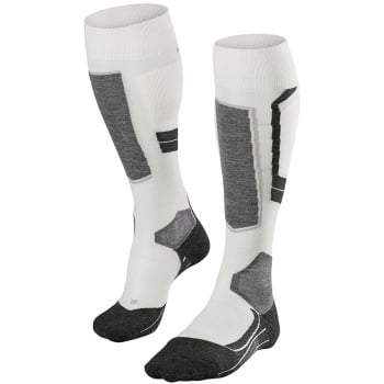 FALKE SK4 Womens Wool Ski Socks in Off White