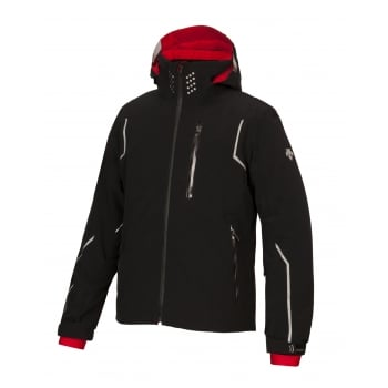 Descente Major Mens Ski Jacket in Black and Red