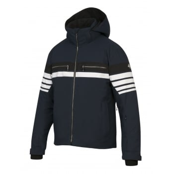 Descente Editor Mens Ski Jacket in Navy Black and White