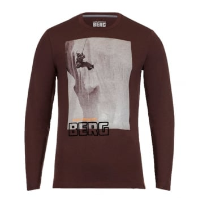 LUIS TRENKER Jagan Mens Wool Mix Long-sleeve Tshirt In Brown