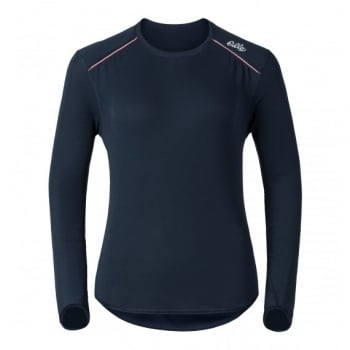 Odlo Vallee Blanche Womens Crew Baselayer Top in Navy