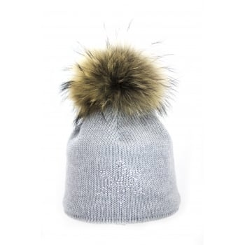 Steffner Sky Womens Ski Hat In Light Grey