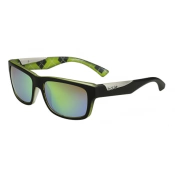 Bolle Jude Matte Black Lime with Brown Emerald Lens