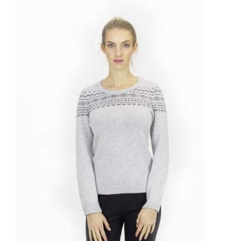 STEFFNER Island D Womens Knitted Top in Light Grey