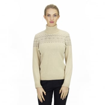 Steffner Island Roll Womens Knitted Top in Cream