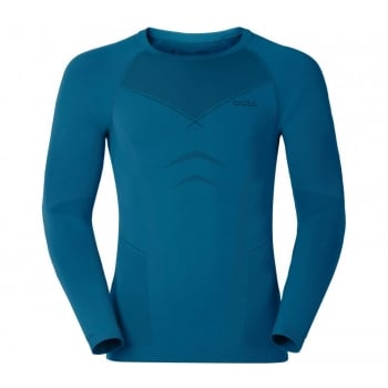 Odlo Evolution Warm Crew Neck Mens Baselayer Top in Seaport