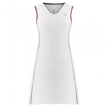 POIVRE BLANC Womens Tennis Dress In White And Wine Red