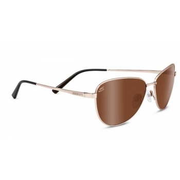 Serengeti Gloria Soft Satin Gold With Polarized Drivers Gol Lens
