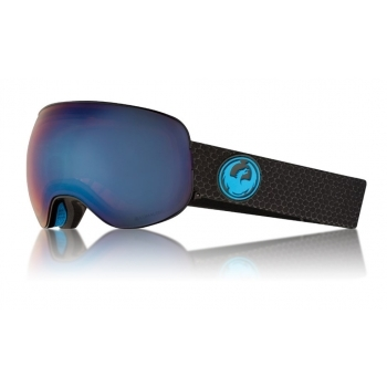 Dragon Alliance Dragon X2 Split Ski Goggle with Lumalens Blue Ion and LL Amber