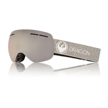 Dragon Alliance Dragon X1s Ski Goggle in Mill with LumaLens Silver Ion and Dark Smoke Lens