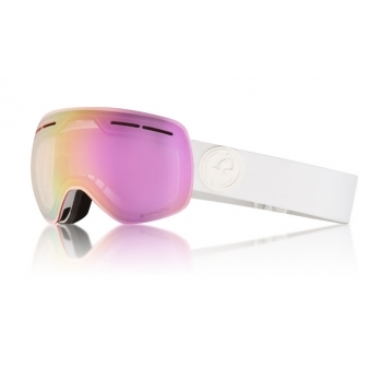 Dragon Alliance Dragon X1s Ski Goggle in Whiteout with Lumalens Pink Ion