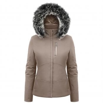 POIVRE BLANC Stretch Womens Ski Jacket in Dove Brown