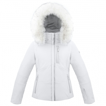 Poivre Blanc Junior Girls Stretch Ski Jacket in White