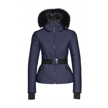 Goldbergh Kago Faux Fur Womens Ski Jacket in Marine