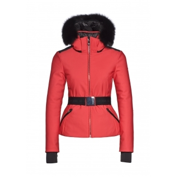 Goldbergh Kago Faux Fur Womens Ski Jacket in Red
