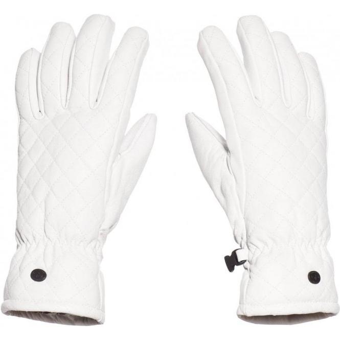 GOLDBERGH Nishi Womens Leather Ski Gloves in White