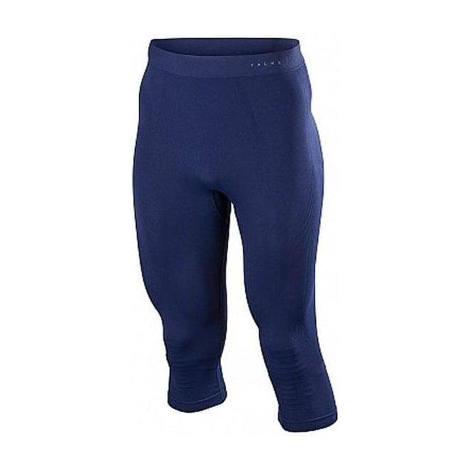 FALKE Mens Wool Tech 3/4 Pants Tight Fit in Dark Night