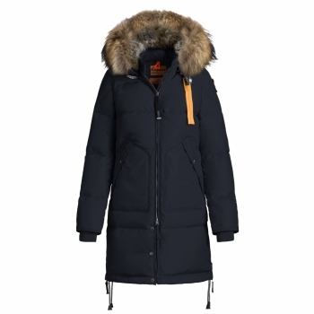 Parajumpers Long Bear Womens Down Winter Coat in Navy