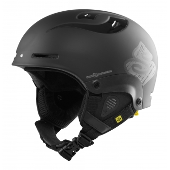 Sweet Protection Sweet Blaster Kids MIPS Ski Helmet in Dirt Black