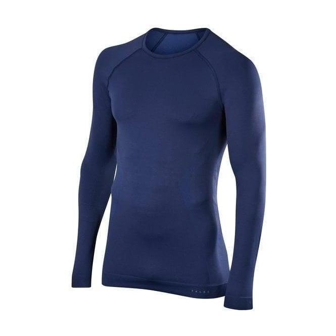 FALKE Mens Maximum Warm LS Shirt Comfort Fit in Dark Night