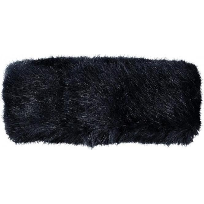 BARTS Fur Headband in Navy
