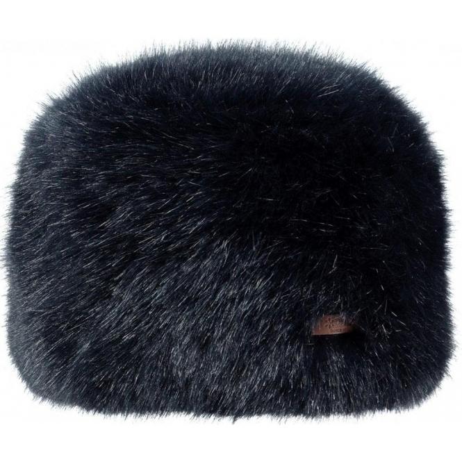 BARTS Fur Josh Ski Hat in Navy