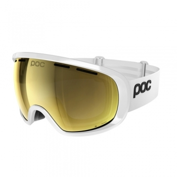 Poc Fovea Clarity Ski Goggle in Hydrogen White With Spe Gold