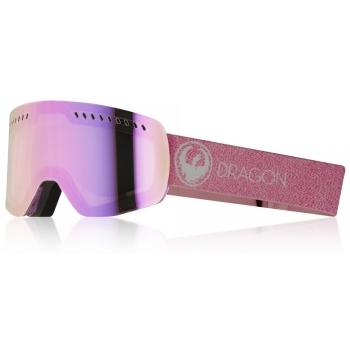 Dragon Alliance Dragon NFXs Ski Goggle in Mill with LumaLens Pink Ion and D Smok
