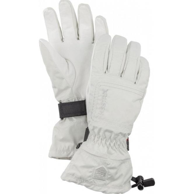 HESTRA SKI GLOVES Hestra Czone Powder Female Ski Glove in Off White