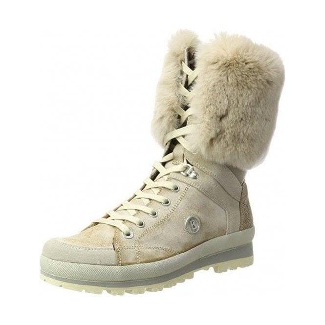 BOGNER St Anton Womens Snow Boot In Off White