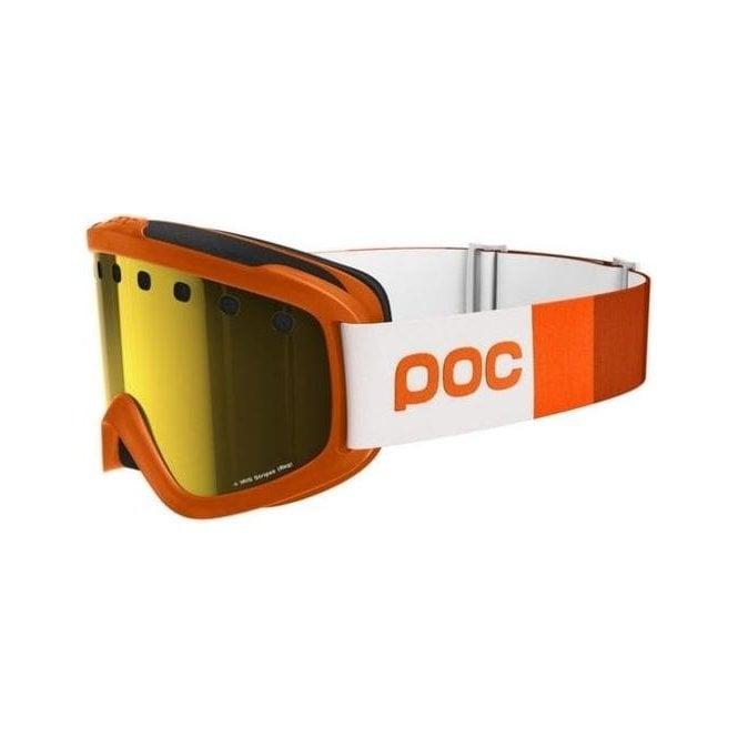 POC Iris Stripes Ski Goggle in Zinc Orange with Pink/Gold Lens