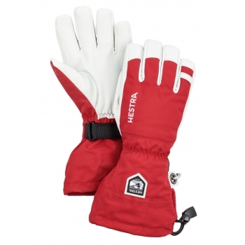 Hestra Ski Gloves Hestra Mens Army Leather Heli Ski Glove in Red