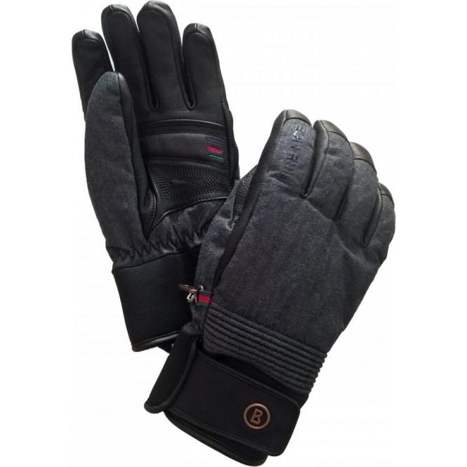BOGNER Esko R-Rex Mens Ski Glove in Black Denim