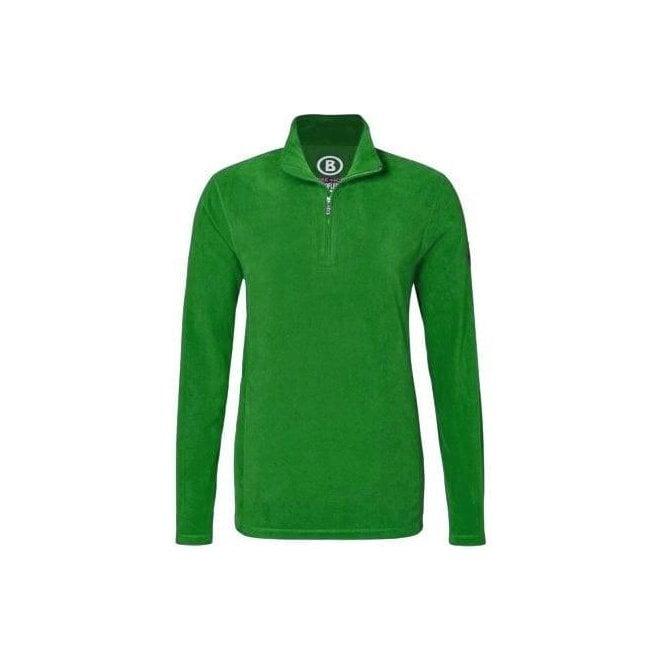 BOGNER Tuxeck Mens Micro Fleece Top in Green