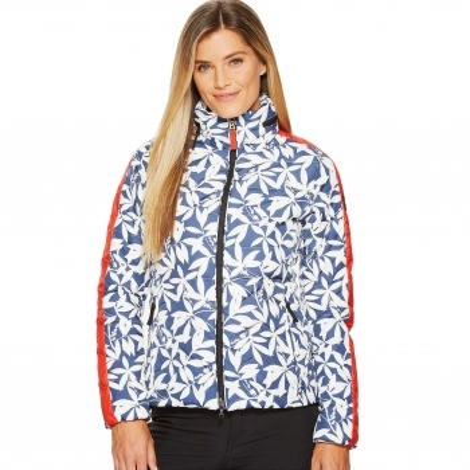 BOGNER Danea D Womens Ski Jacket in Navy and Red