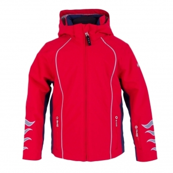 Bogner Linos Boys Ski Jacket in Red