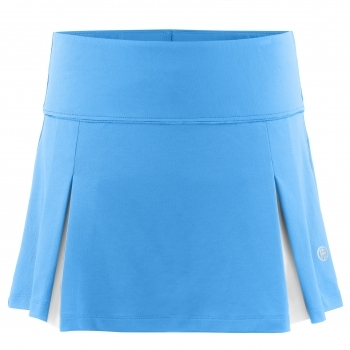 Poivre Blanc Womens Tennis Skort in Riviera Blue and White