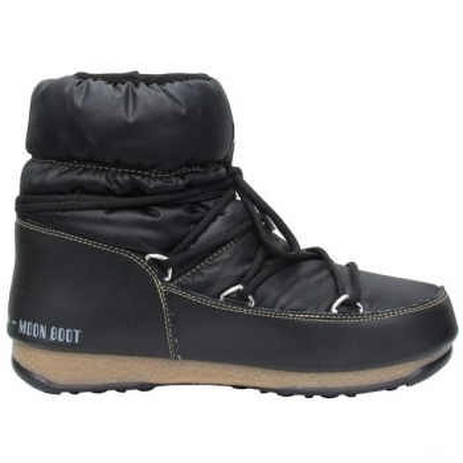 MOON BOOT Low Nylon Winter Boot in Black Bronze