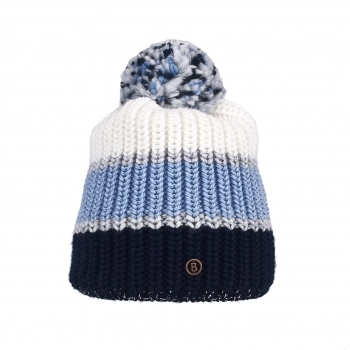 Bogner Arina Womens Hat in Navy and Pale Blue