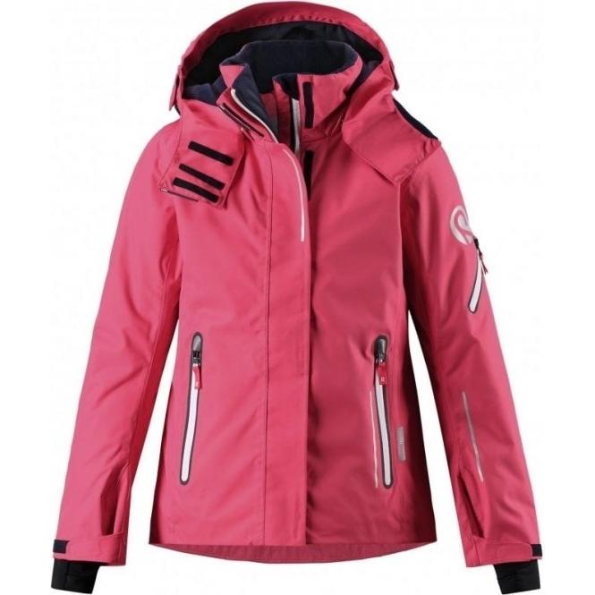 6814affce6 Reima Frost Girls Ski Jacket in Strawberry Red