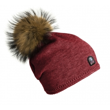 PARAJUMPERS Plain Hat in Dark Red