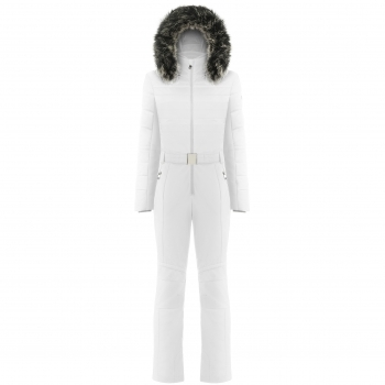 Poivre Blanc Stretch Ski Overall In White