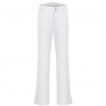 Poivre Blanc Stretch Fitted SHORT Leg Ski Pant in White