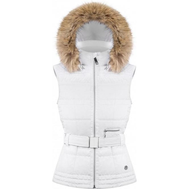 POIVRE BLANC Annie Womens Insulated Vest in White