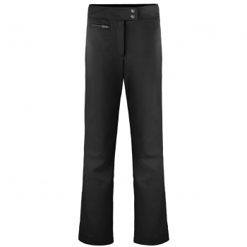 Poivre Blanc Womens Softshell Short Leg Ski Pant in Black