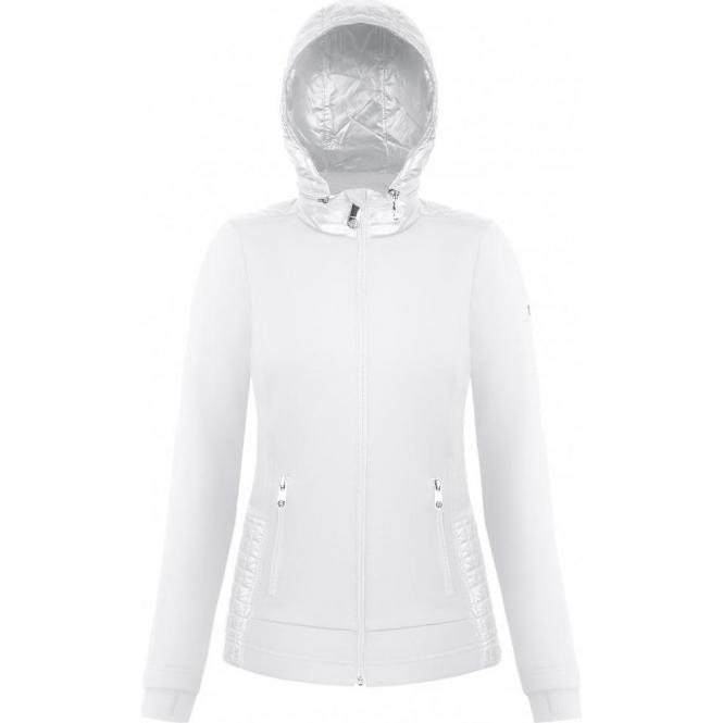 POIVRE BLANC Andrea Womens Hooded Fleece Jacket in White