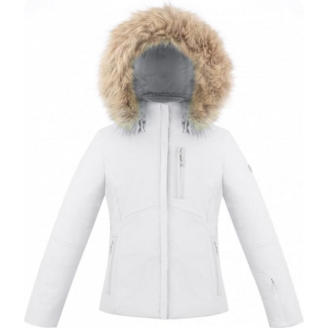 b442a1095 Poivre Blanc Ada Girls Ski Jacket in White
